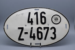 Vintage-German-Export-Metal-License-Plate-13-1-2-034-W-8-034-T-Hauptzollamt-Hannover