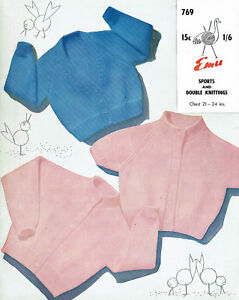 dcff419e9 Image is loading EMU-769-THREE-BABY-RAGLAN-SLEEVE-CARDIGANS-QUICK-