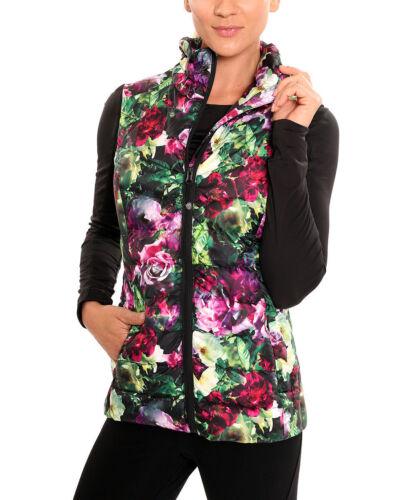 Nouveau Floral Puffer Johnson Size Performance Femmes Betsey XL Vest rI7vqrw