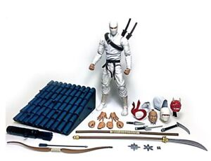 "Fwoosh Articulated Icons Feudal Series Deluxe Ninja White 6/"" action figure DNW"