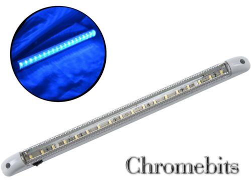 1x LED 12V BLU LUCE STRISCIA BARRA 40CM INTERNO CAMION TRATTORE CAMPER ON //