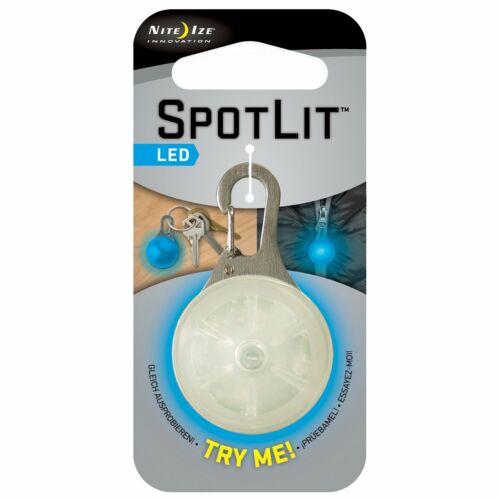 résistant aux intempéries bleu Nite Ize-Clip-on lumière DEL avec mousqueton