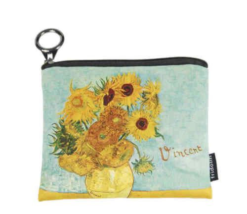 Mini Geldbörse Vincent van Gogh Sonnenblumen Geld Etui Börse Geldbeutel NEU