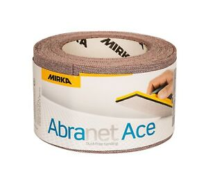 Mirka Abranet ACE Abrasive Roll Sandpaper - 75mm x 10mtr *All Grits Available*