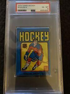 1979 Topps Hockey Wax Pack PSA 6 EX-MT - Wayne Gretzky Rookie Year