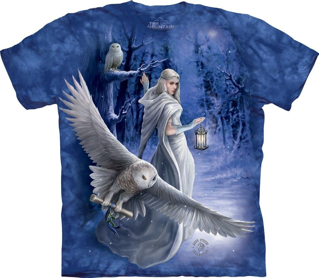 The Mountain Midnight Messenger Owl Anne Stokes Adult TShirt