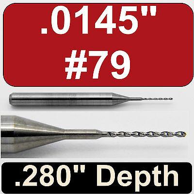 "cnc pcb model r .0145/"" #79  Carbide Drill Bits FIVE Pieces 1//8/"" Shanks"