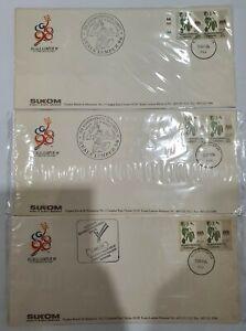 Malaysia 1994 SUKOM98 Souvenir Cover 3pcs