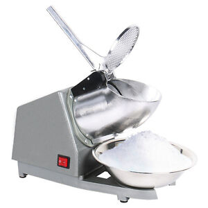 Electric-Snow-Cone-Maker-Ice-Crusher-Ice-Shaver-Machine-Home-Commercial-220V