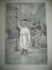 TONKIN CANONNIERE FERDINAND DE LESSEPS PARIS LES JOURS GRAS NICE GRAVURES 1884