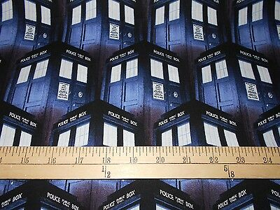 """7 yards Springs Doctor Who """"Packed Tardis"""" & 2 yards """"Exterminate"""" Fabric"""