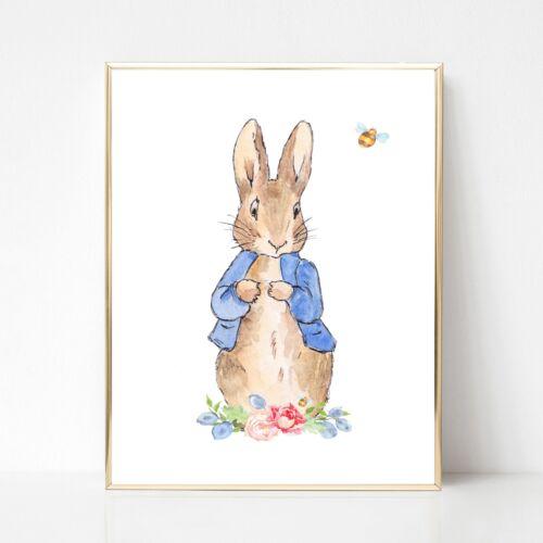 Peter Rabbit Nursery wall print Kids wall print,Girls wall print,beatrix potter