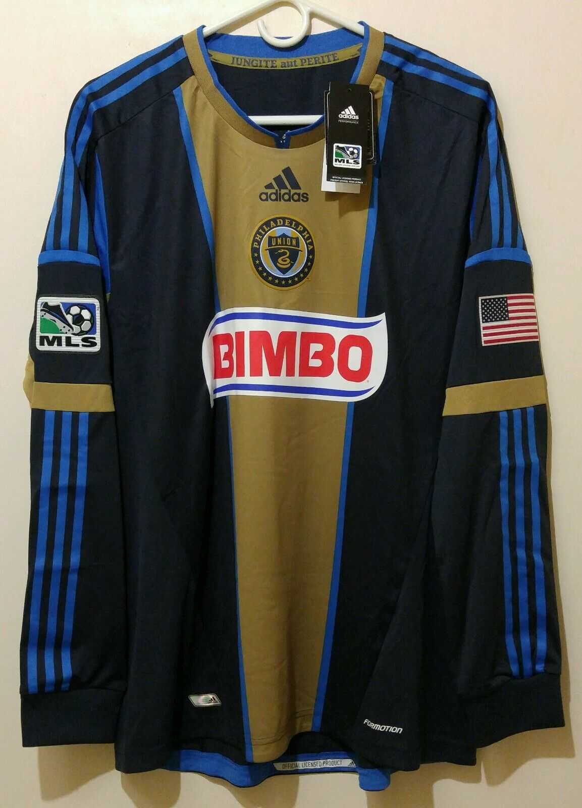 NEW ADIDAS FORMOTION ON FIELD PHILADELPHIA UNION HOME JERSEY MENS XL EXTRA LARGE