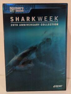 Shark-Week-20th-Anniversary-DVD-2007-4-Disc-Set-Region-1-A-NTSC
