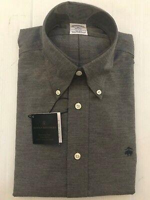 NWT BROOKS BROTHERS 1818 MEN REGENT NON IRON L//S DRESS SHIRT GREEN $79.50