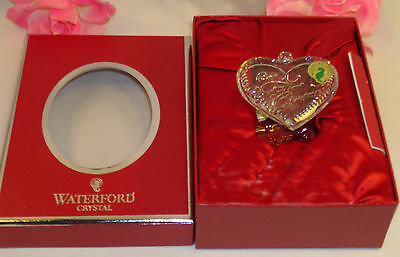 New Waterford Crystal 1st First Christmas Together Heart  Ornament Ireland 2010