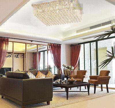 New Modern Contemporary Crystal Ceiling Light Pendant Lamp Chandelier Lighting