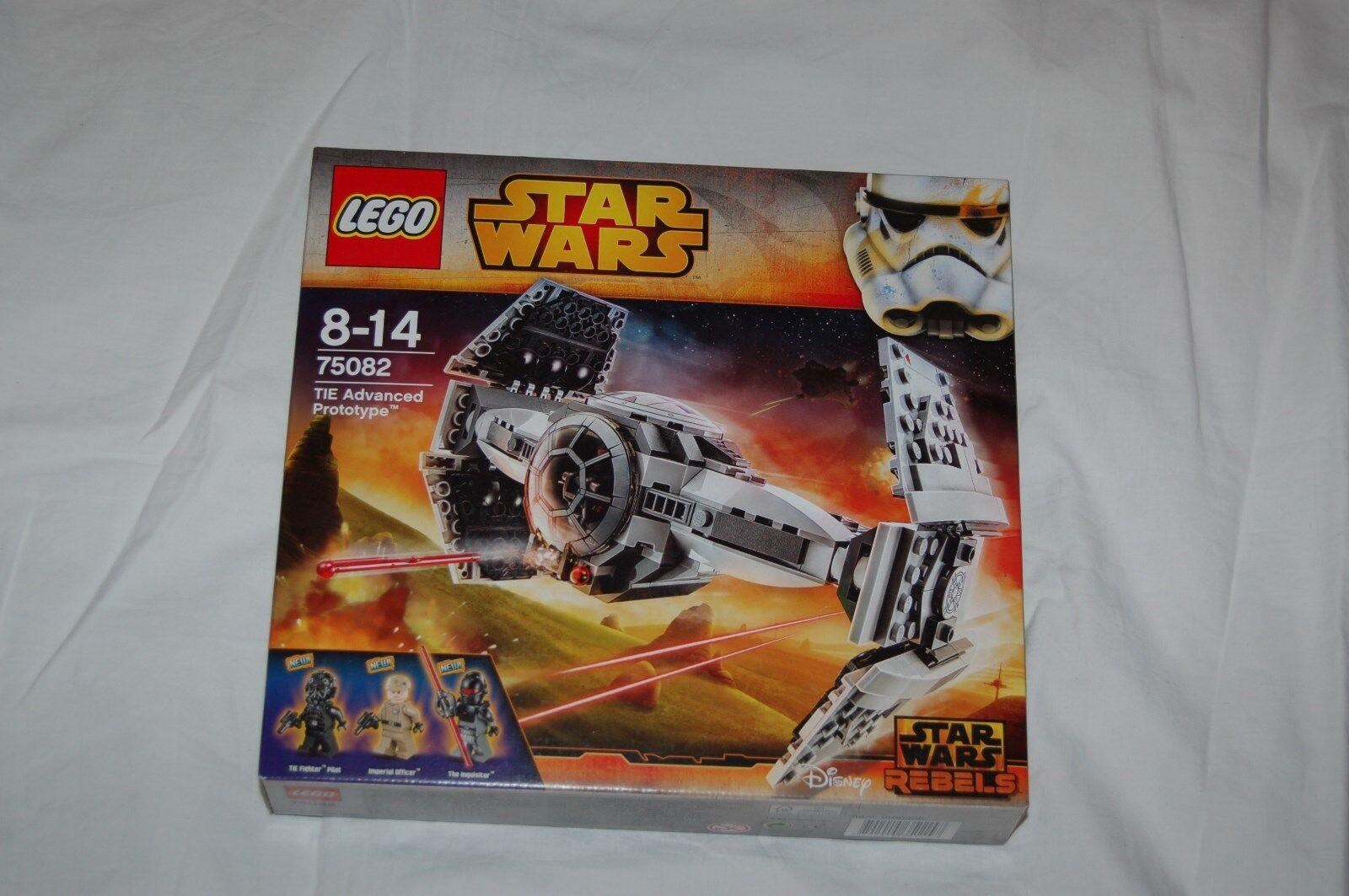 LEGO STAR WARS 75082 TIE Advanced Prototype NEU und ungeöffnet  MIT FIGUREN    Realistisch