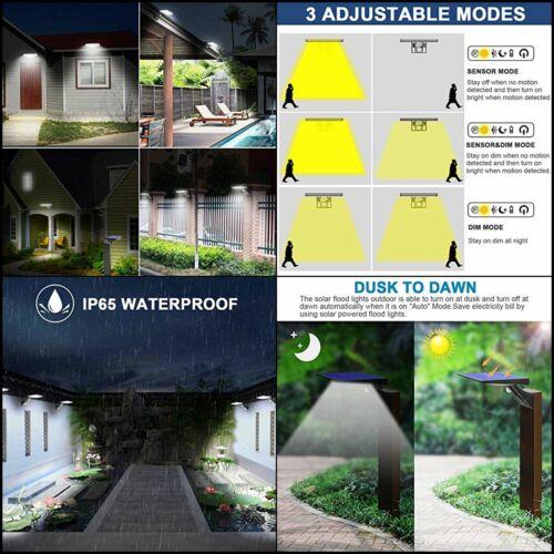 Waterproof Solar Motion Sensor Flood Lighting  Exterior Security Light