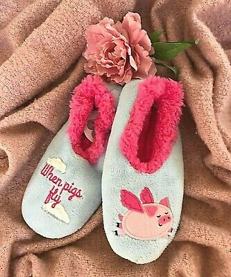 Pigs Fly Snoozies Pairables Womens Slippers House Slippers