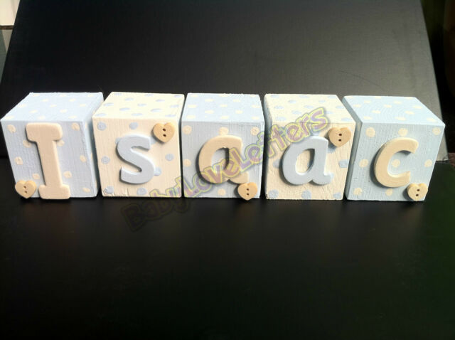 Personalised Baby Name/Photo Wooden Letter Blocks.Perfect Christening Gift!