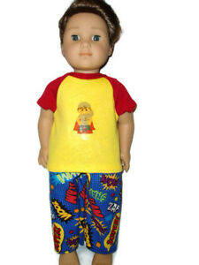 Pajamas-for-the-Superhero-18-034-doll-clothes-for-Boys-fits-American-Girl-Boy-dolls