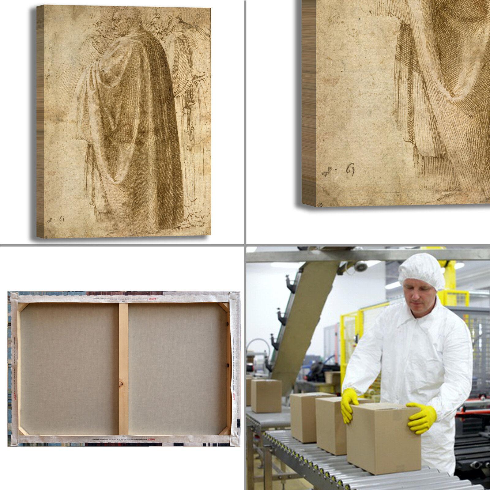 Michelangelo uomini in piedi quadro stampa tela dipinto telaio telaio telaio arrossoo casa e5fad8