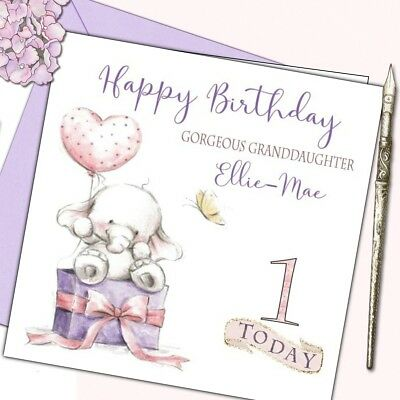 Personalised Birthday Card 1st 2nd 3rd Baby Girl Grand//Daughter//Niece