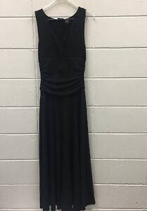 Shape-FX-Black-Maxi-Dress-Size-Medium-Slim-Tummy-Control