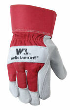 Wells Lamont 4050 Red Cowhide Leather Palm Work Gloves Large Pack Of 6