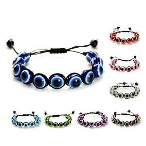 Image Is Loading Evil Eye Bead Bracelet 12mm Shamballa Style Good