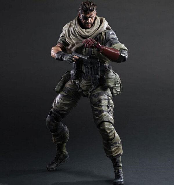 Play Arts Kai Metal Gear Solid V The Phantom Pain Snake Action Figure Toys NEW
