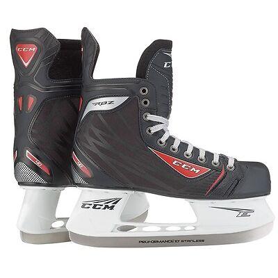 New CCM RBZ 40 ice hockey skates Junior size 3 width D kids skate black/red