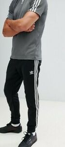 Details about ADIDAS ORIGINALS SST Track Pants Jogger Skinny Cuffed Black White sz XL