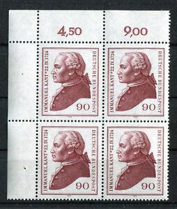 Bund-806-postfrisch-Eckrand-Viererblock-VB-Ecke-1-Kant-1974