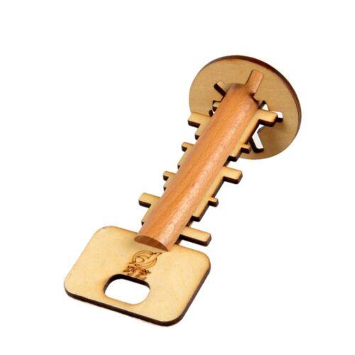 Bamboo Puzzle Intelligence Development Toy Unlock Key Education Tool Toys