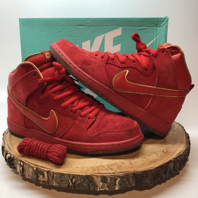 new styles 5cc11 182c5 Nike Dunk High Premium SB CHINESE NEW YEAR CNY YEAR OF THE HORSE YOTH RED Sz