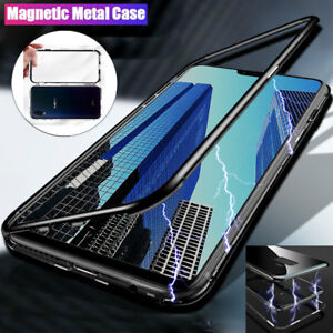 new style fd7b4 7270a Details about Magnetic Adsorption Case for Vivo NEX/X21 Metal Bumper  Tempered Glass Back Cover