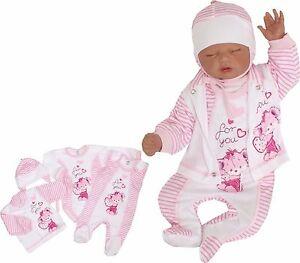 4 tlg set baby starterset erstausstattung 50 56 62 68 100 baumwolle unisex ebay. Black Bedroom Furniture Sets. Home Design Ideas