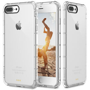 For Apple iPhone 8 Plus / 7 Plus Case Clear Hybrid Shockproof TPU Bumper Cover 841169151017