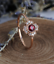 1-6ct-Round-Cut-Red-Garnet-Engagement-Ring-14k-Rose-Gold-Finish-Floral-Solitaire thumbnail 5