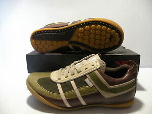 PONY DEFLECTOR LOW CHEVRON MEN/WOMEN SHOES BROWN/OLIVE 1742 SIZE 6.5 8 NEW
