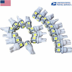 20Pcs T10 Car Wedge 5 SMD 5050 LED Light Replacement Bulbs W5W 2825 158 192 168