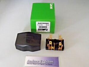 classic lucas 54038068 4fj 2 way glass fuse box holder tri mg mini image is loading classic lucas 54038068 4fj 2 way glass fuse