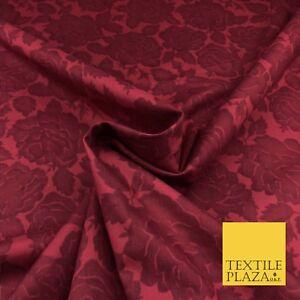 """Lavado Rojo Rosa Suave Tela Mantel Vestido Estampado Floral Algodón Craft 60/"""" FD785"""