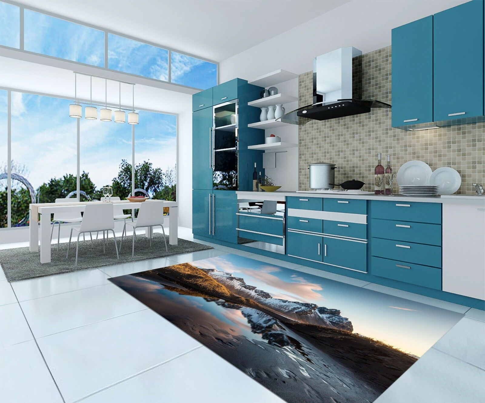 3D Cloud Lake 945 Kitchen Mat Floor Murals Wall Print Wall AJ WALLPAPER AU Carly