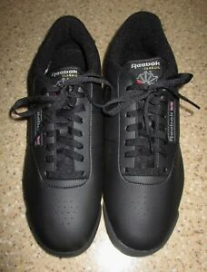 c99cba20ca Details about NWOB Reebok Classic Princess Wide Black Athletic Trainer  Tennis Shoes 12 WIDE