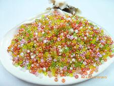 8/0  Flamingo Road Mix Miyuki Glass Round Seed Beads 10 Grams