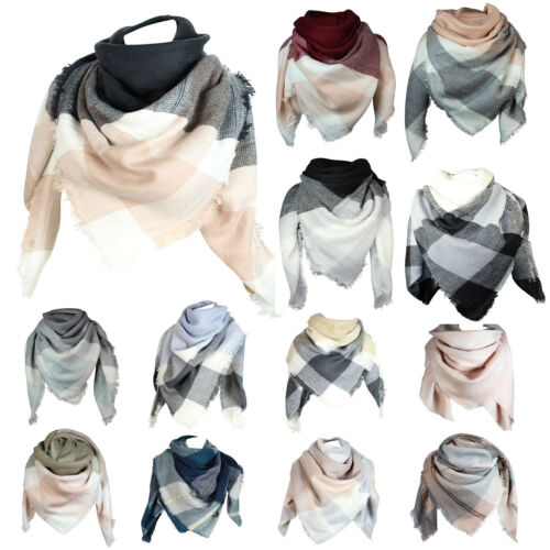 XXL Plaid chaudes et magnifique Femmes Poncho écharpe Pince couvertures écharpe