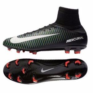 fe917695 Nike Mercurial Veloce III 3 Sz 11.5 DF FG Black Green Soccer Cleats ...